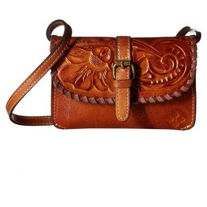Patricia Nash Torri Tooled Leather Crossbo…